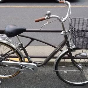 ★リサイクル<中古車>・ブリヂストン・26インチ・U型ホームサイクル・シングルギヤ・LEDオートライト・茶色