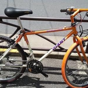 ★OLD MTB ジャイアント・リサイクル中古自転車・Hard Line7800<整備済み>26インチ・3x7段ギヤ・オレンジ