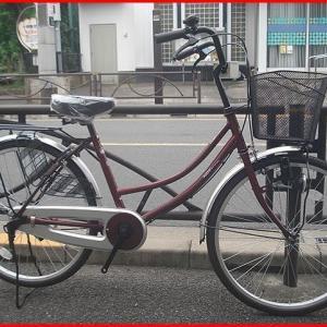 ★入荷・お買い得ホームサイクル・ママチャリ・24インチ・ワインレッド