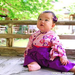 女の子 フォーマル 袴 袴風 カバーオール ロンパース 和服 長袖 七五三 【カバーオール】