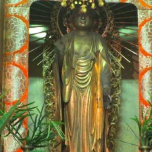加古川町旧鳩里村探検(24) 稲屋・友沢(13) 寿願寺の阿弥陀様は、洪水のことを知っている
