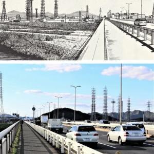 加古川町旧鳩里村探(25) 稲屋・友沢(14) 播州大橋からの風景