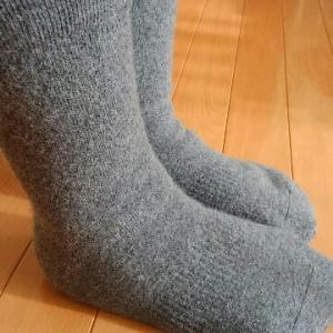5本指のハイソックス靴下とラムウール&アンゴラ靴下