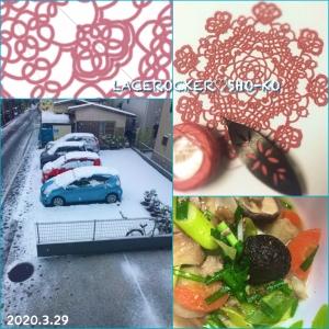 雪の日、豚汁、オンライン(^ ^)