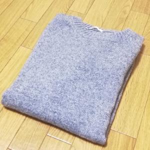 GU購入品 ゆったりメンズのラムブレンドセーターで冬コーデ