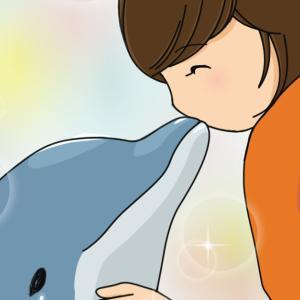 <発達ナビ>娘、イルカと泳ぐ