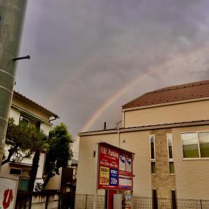 祝福のしるしの虹