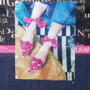 ピンクの靴Bag製作開始・・・ やりかけが増えていく イベント間に合うのか・・・| 壁 |д・)