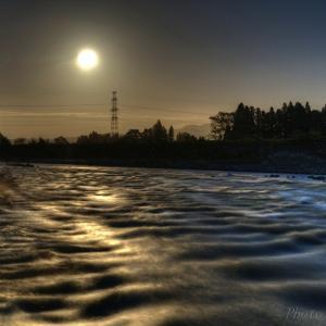みちのく雫石川夜景(台風一過)
