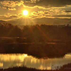 みちのく御所湖夕陽景