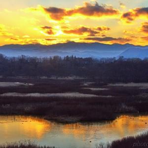 みちのく御所湖夕陽景2