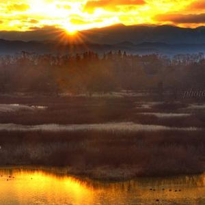 みちのく御所湖夕陽景3