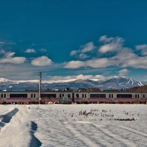 みちのく冬の電車2