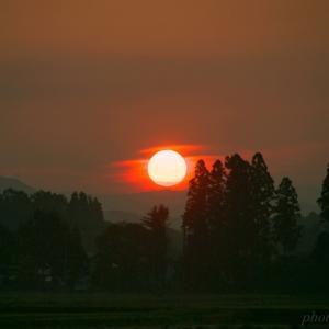 みちのく夏の朝陽景