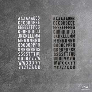 どんなテイストの収納にも合う!シンプルで使いやすいアルファベットステッカー(#20)キャンドゥ×LOVEHOMEコラボ 第4弾
