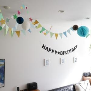 8歳になりました & 誕生日の飾りつけ