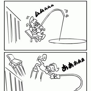 4コマ漫画「釣り」(リメイク版)