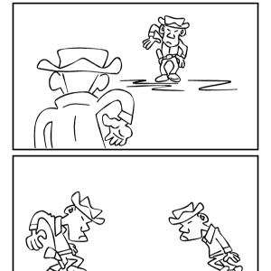 4コマ漫画「決闘」リメイク版