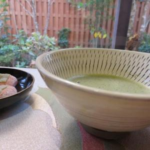 小鹿田焼の茶碗で一服♪