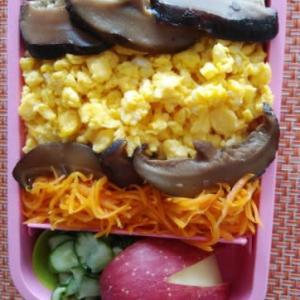 椎茸弁当と魚うどんのランチ⭐