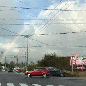 虹の朝。。。時計修理の続報