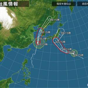 台風13号&15号