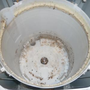 洗濯機、柔軟剤を使い過ぎたらこうなった。
