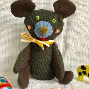プレゼントのために作った クマのぬいぐるみ!