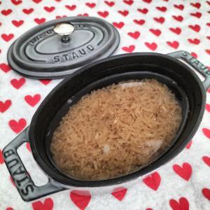 玄米をストウブのミニオーバルで炊いてみた!
