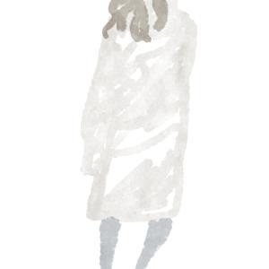 ライトブラウンのコートのおねえさん