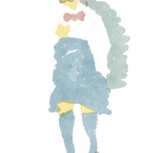 上着を持つ制服のポニーテールの眼鏡女子高生