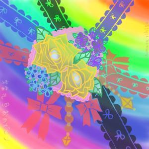 「花咲く虹の世界✨」