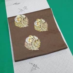 小紋「疋田鳥獣戯画」と梅垣織物なごや帯