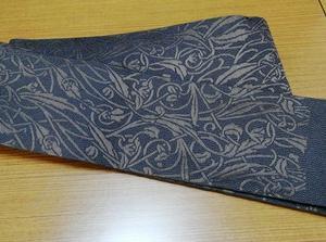 梅垣織物角帯 西洋蔓草文