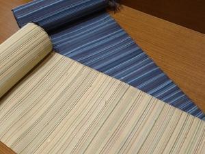 角帯か半巾帯に 綴の帯地