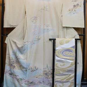 本加賀友禅訪問着とヤマキ織物袋帯