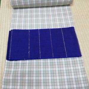 片貝木綿と米沢ぜんまい紬半巾帯