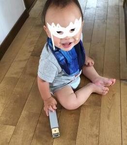 バシュとキューキューシャ@息子1歳3ヶ月