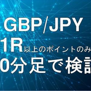 1R以上のポイントでエントリー ~ ポンド円8月検証