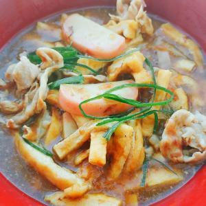鯖缶練り込み麺のカレー魚うどん