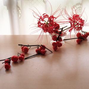 ひがんばなの花とむきあう