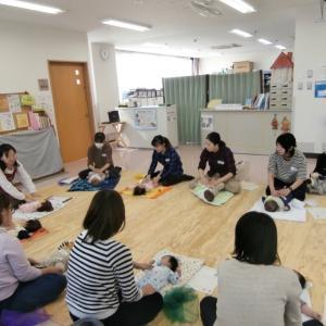 【開催報告】 子育て支援センターでベビーマッサージ講座