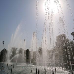 ルダーキー公園は噴水が気持ちいい!《タジキスタン旅行記26》