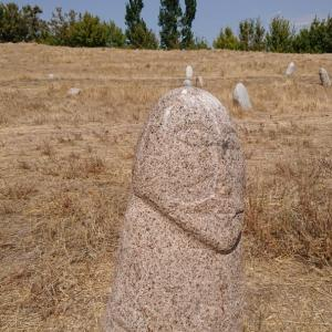 パラサグン遺跡のニョッキリ石人はアレか?《キルギス旅行記⑫》