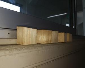 木を切る練習 スペースワールド駅の建設