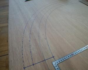 スペースワールド駅の建設3 線路板