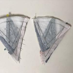 マリナーズコンパス*ミシンでピーシング・尖った個所をきれいに縫うには…
