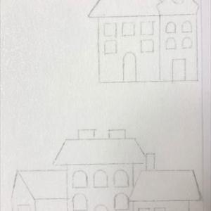 新しいハウスのデザイン*ダイソーの生地で…
