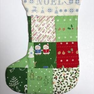 可愛いクリスマスブーツ壁掛け用*完成です