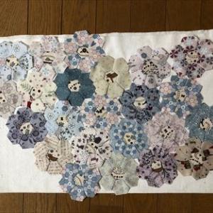 クッションカバー8*横つなぎ*綿花の花